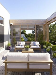 Austin Patterson Disston Architekten / Hamptons Haus Terrasse Source by Outdoor Rooms, Outdoor Living, Outdoor Decor, Outdoor Privacy, Outdoor Balcony, Outdoor Seating, Backyard Patio, Pavers Patio, Patio Fence