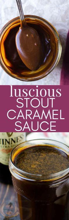 42542 best  Best of Pinterest  Recipes  images on Pinterest     This homemade caramel sauce recipe is perfect for St  Patty s Day because  it starts with Irish stout  Deeply rich and nutty  Luscious Stout Caramel  Sauce is