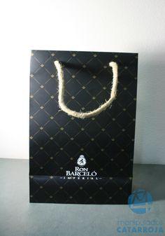 bolsa estucada con cartón y cordón