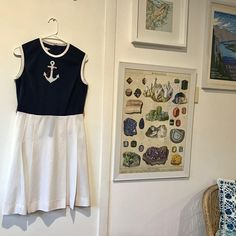 Vintage 1960s dress - Nautical sailor dress