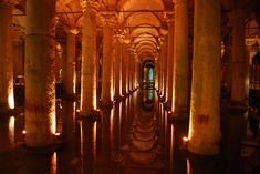 The cisterns in Istanbul.