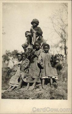 Several African american Children Black Americana