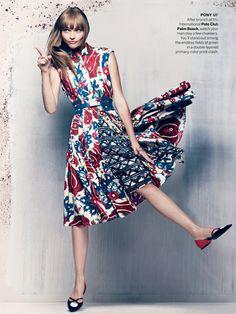 Sasha Pivovarova & Xiao Wen Ju  by Craig McDean for Vogue US November 2013