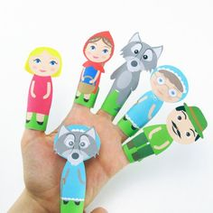 Print these free printable finger puppets and let the pretend play fun begin!