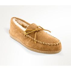 The Minnetonka Men's Sheepskin Hard Sole Slippers will keep your feet warm and cozy while you lounge around the house. These slippers are crafted of soft and flexible suede, and they feature a classic moccasin design with rawhide laces. Old Friend Slippers, Old Man Slippers, Indoor Outdoor Slippers, Size 13 Shoes, Best Slippers, Moccasins Mens, Golden Tan, Soft Sculpture, Fashion Boots