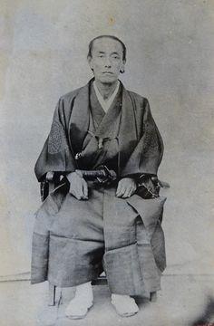 幕臣 大久保一翁 Showa Period, Showa Era, Samurai Weapons, The Last Samurai, Kendo, Japan Art, Studio Portraits, Katana, Vintage Photographs