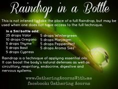 Raindrop in a bottle! www.naturesEZremedies.com | Lisa Krznarich, RN