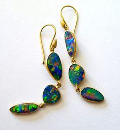 """lauriekaiser: """" My favorite kind of holiday ornaments. Bone Jewelry, Opal Jewelry, Peacock Jewelry, Jewelry Box, Opal Earrings, Drop Earrings, My Birthstone, Black Opal, Jewelry Accessories"""