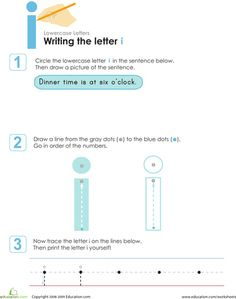 Worksheets: Writing the Letter i