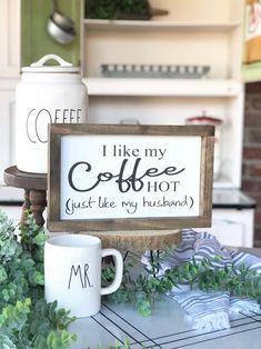 Coffee Bars In Kitchen, Coffee Bar Home, Home Coffee Stations, Coffee Bar Signs, Coffee Coffee, Coffee Truck, Coffee Nook, Coffee Cake, Coffee Kitchen Decor