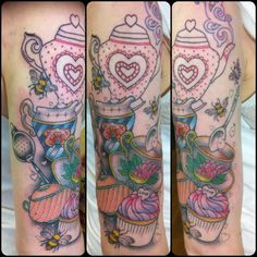So pretty I only have one gripe, to me the Teapot doesn't look finished in comparison with the rest of the tattoo