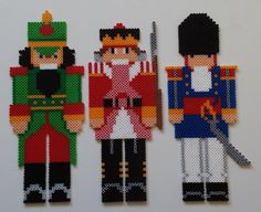 Christmas nutcrackers perler beads by Joanne Schiavoni