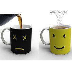 Heat Changing Ceramic Color Coffee Mug