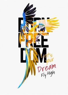 Born freedom typography on macaw parrot illustration Premium Vector Graphic Design Tips, Web Design, Graphic Design Posters, Type Design, Graphic Design Inspiration, Flyer Design, Logo Design, Typography Poster Design, Design Trends