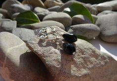 Boucles d'oreilles en perles de jade, bijoux coeurs et pierres gemmes, bijoux cristal de roche, bijoux chics et romantiques : Boucles d'oreille par lapassiondisabelle