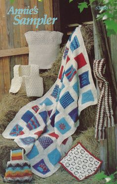 Annie's Sampler, Crochet Pattern Booklet 87A80 Tote, 40 Block Afghan & More! Part of Annie's Pattern Club