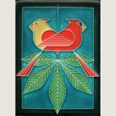 Pine Grosbeak Decorative Ceramic Wall Art Tile 6x6