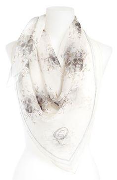 Soft edgy: Alexander McQueen Dragonflies Silk Chiffon Scarf