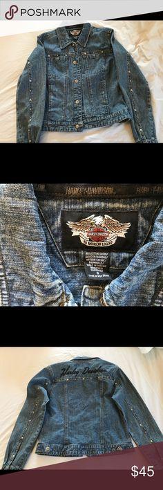 Harley-Davidson denying jacket Authentic Harley-Davidson small denim jean jacket Harley-Davidson Jackets & Coats Jean Jackets