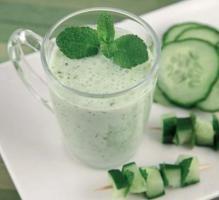Recette - Gaspacho de concombre à la fêta - Proposée par 750 grammes