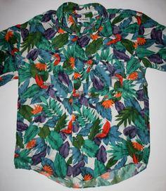 Vintage Summa 100 Silk Hawaiin Luau Shirt Size by VintageMensGoods, $35.00
