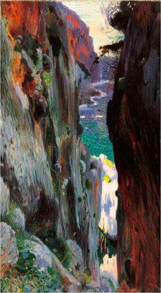 Joaquim Mir i Trinxet: The Abyss, Majorca. c. 1901-1904. Oil on canvas. 75 x 98 cm. Museo Carmen Thyssen Málaga.