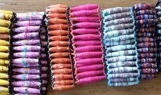 All Proceeds go to Children in Uganda! Ekisa Recycled Paper Bead Stretchy Cuff by EkisaPaperBeads on Etsy, $7.00