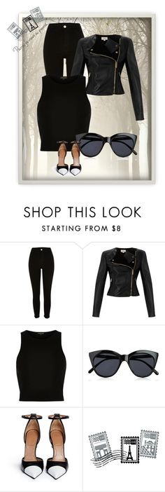 """""""Sexy and all black look"""" by uniquehip ❤ liked on Polyvore featuring Temperley London, Le Specs, Givenchy and Dot & Bo"""