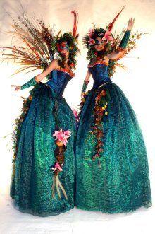 Forest Fairy Queens - Stiltwalking Characters - Warwickshire 1