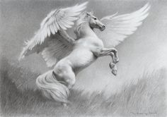 Pterippus - To be found in the mountains of Greece and Italy, these rare and magical horses possess powerful feathered wings like those of giant birds. They are wild and untamed, though can be made to respect a worthy human enough to carry them into battle. They are almost always perfect white in colour, though some black specimens have been recorded.