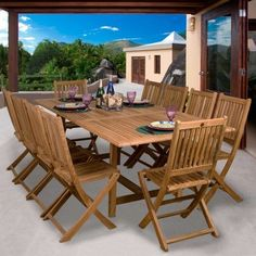 @Overstock - The Toulouse teak set will provide comfortable year round dining for your grand outdoor parties  This wonderful set will enable you to entertain large groups of up to 10 people  Constructed of teak wood with a light brown colorhttp://www.overstock.com/Home-Garden/Toulouse-11-piece-Teak-Dining-Set/4675994/product.html?CID=214117 $1,839.99