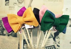 Photo booth ideas - bow ties!
