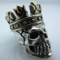 King-Sm-Paracord-Leather-Bead-in-925-Sterling-Silver-Bronze-by-GD-Skulls