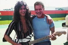 Behind the Curtain: Jamming with Eddie Van Halen Alex Van Halen, Eddie Van Halen, Rock N Roll Music, Rock And Roll, Jim Marshall, Greatest Rock Bands, Guitar Collection, Thing 1, Rock Legends