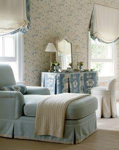 Lovely boudoir...chaise..vanity