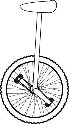 unicycle line art