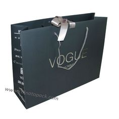 Wholesale gift bag gift bag paper shopping bags miumiu brand gift luxury paper branded gift bag with ribbon handle silver hot stamped logo negle Choice Image