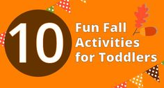 10 Fun Fall Activities for Toddlers #toddlers #fall #fun