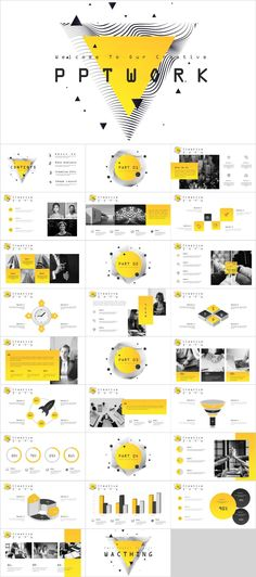 Yellow Creative Swot PowerPoint Template Item Details: This presentation template has a clean and neutral design that can be adapted to any content and meets various market segments. The graphic elements are very simple and fast to edit, as well. Ppt Design, Icon Design, Powerpoint Design Templates, Design Brochure, Slide Design, Keynote Template, Flyer Template, Booklet Design, Design Layouts