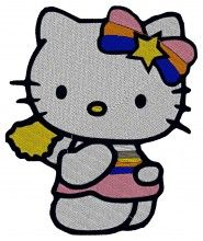 Cheerleader Kitty Embroidery Design brother machine embroidery supplies