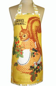 Metro Retro Squirrel & Berries Vintage Tea by MerryGoRoundHANDMADE, $41.95