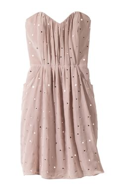 Rebecca Taylor Mirrored Strapless Dress