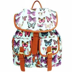 ZLYC Butterfly Print Blue Canvas Backpack for Teenage Girls leisure backpack travel backpack fashion schoolbag personalized sport bags ZLYC http://www.amazon.co.uk/dp/B00FU3APXY/ref=cm_sw_r_pi_dp_qLn0tb1FV1PVV5VY