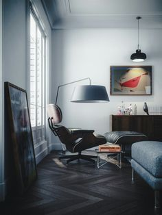 lovely use of light in a small space. looks like a london flat