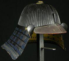 62 plate suji bachi kabuto. School:Saotome. Signature:Joshu Ju Iyenari. Edo period.