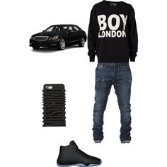 Trap?? by sneakerhead1500 on Polyvore featuring polyvore, fashion, style, BOY London, Moschino and Mercedes-Benz