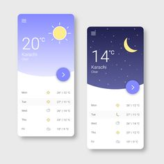 Android App Design, Android Apps, Weather Mobile, Web Ui Design, Mobile App Ui, Ui Inspiration, User Interface Design, Photoshop Design, Mobile Application