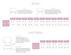 fce1d9394 tabelas de medidas Sutiãs e Calcinhas Valisere...confiram aqui o tamanho  ideal para