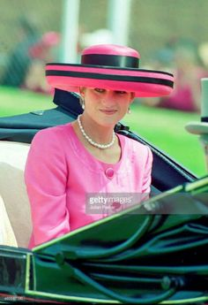 Princess Diana in the royal parade of cattiages