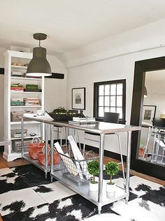 Stainless steel kitchen tables... home office